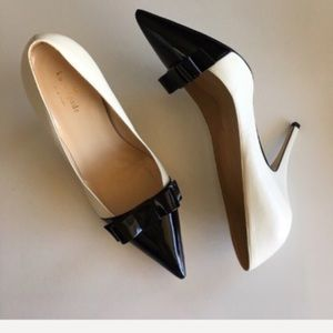 { Kate Spade } bow accent leather heel